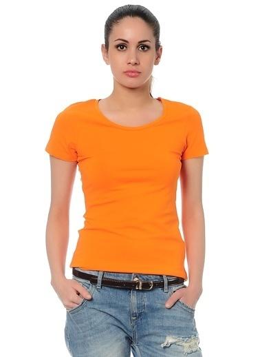 Asymmetry Tişört Oranj